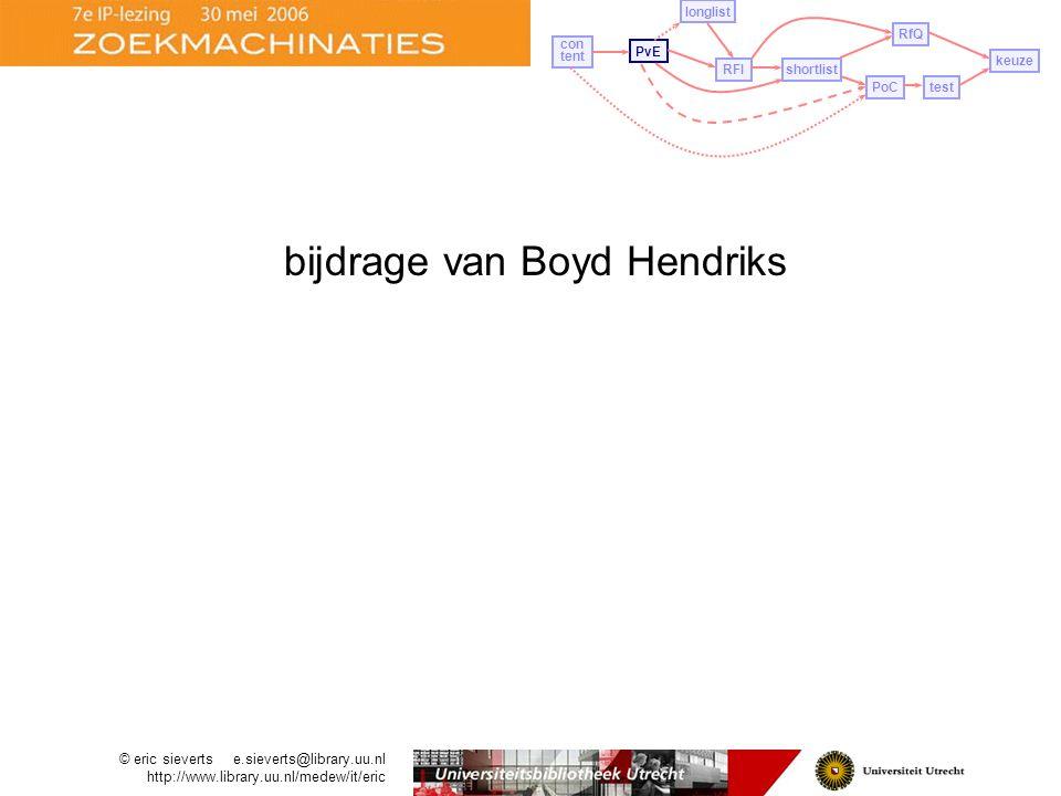 bijdrage van Boyd Hendriks