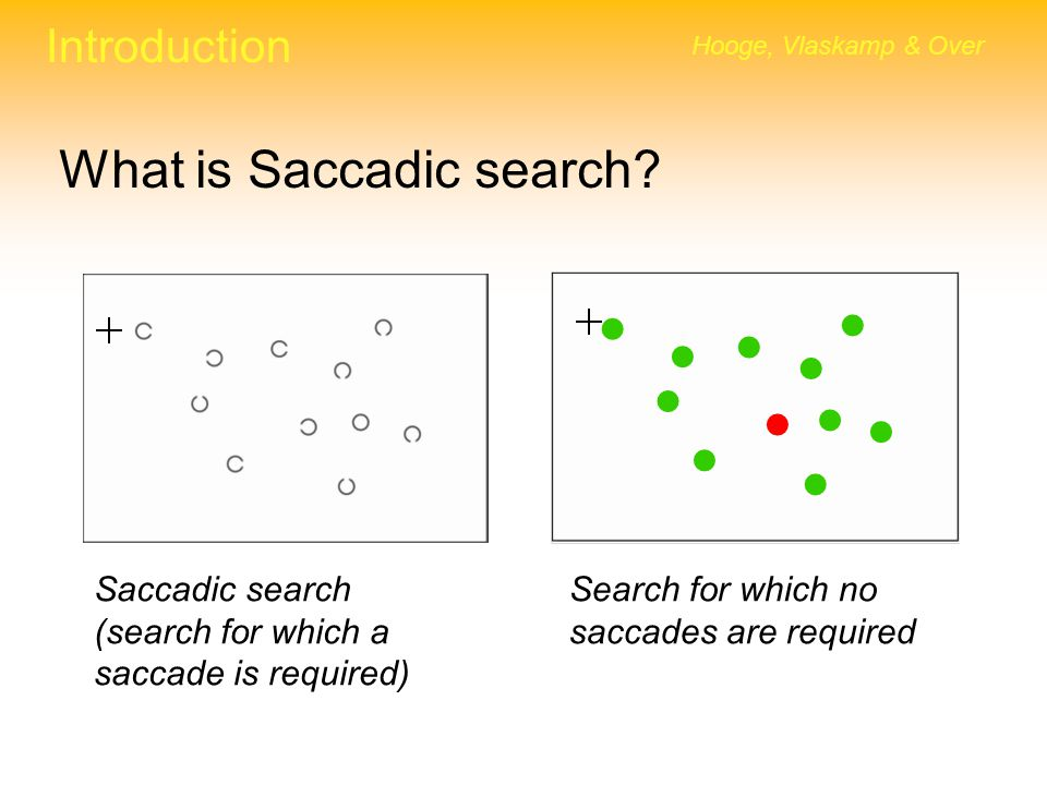 What is Saccadic search