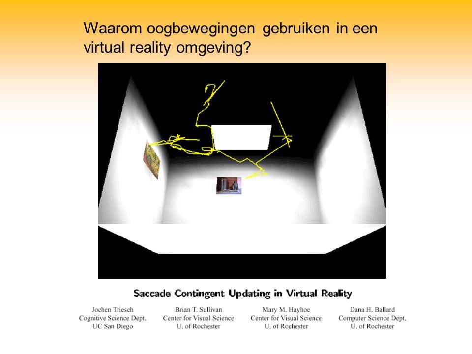 Waarom oogbewegingen gebruiken in een virtual reality omgeving
