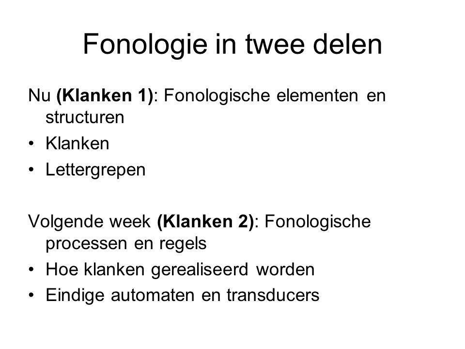 Fonologie in twee delen