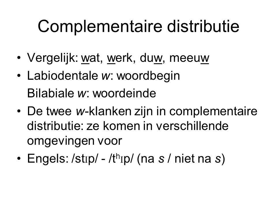 Complementaire distributie