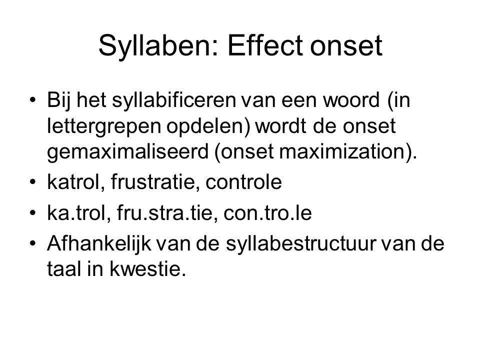 Syllaben: Effect onset