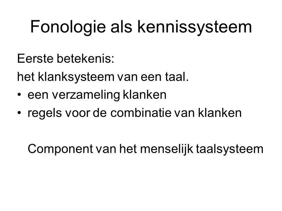 Fonologie als kennissysteem