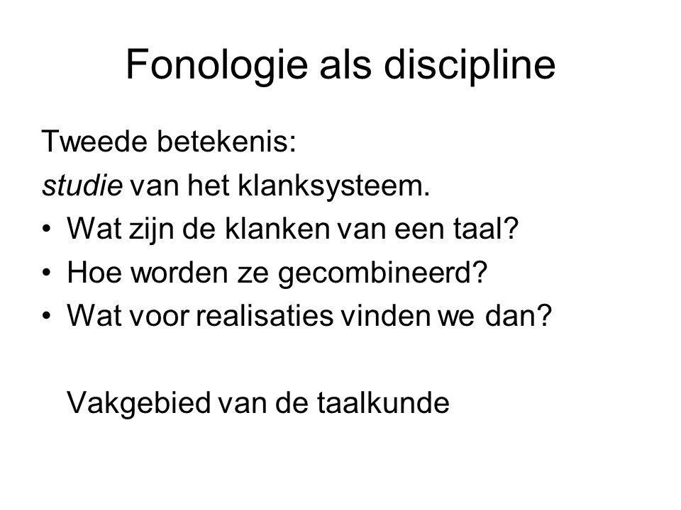 Fonologie als discipline