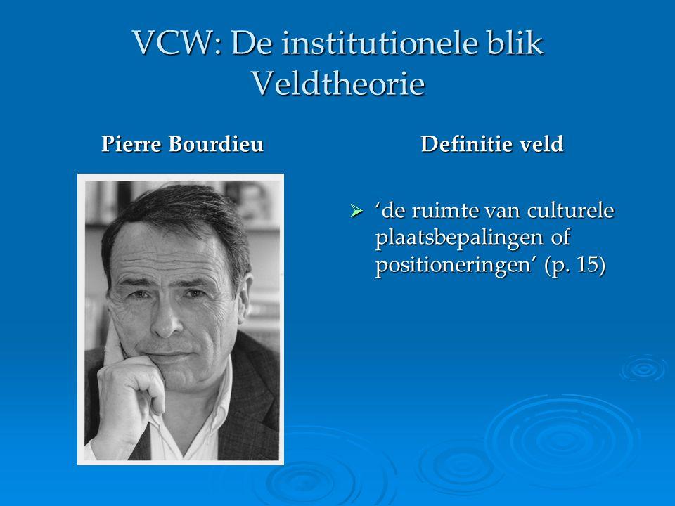 VCW: De institutionele blik Veldtheorie