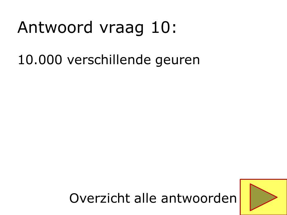 Antwoord vraag 10: 10.000 verschillende geuren
