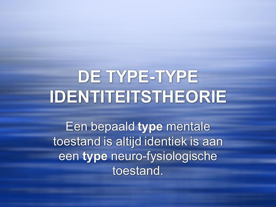 DE TYPE-TYPE IDENTITEITSTHEORIE