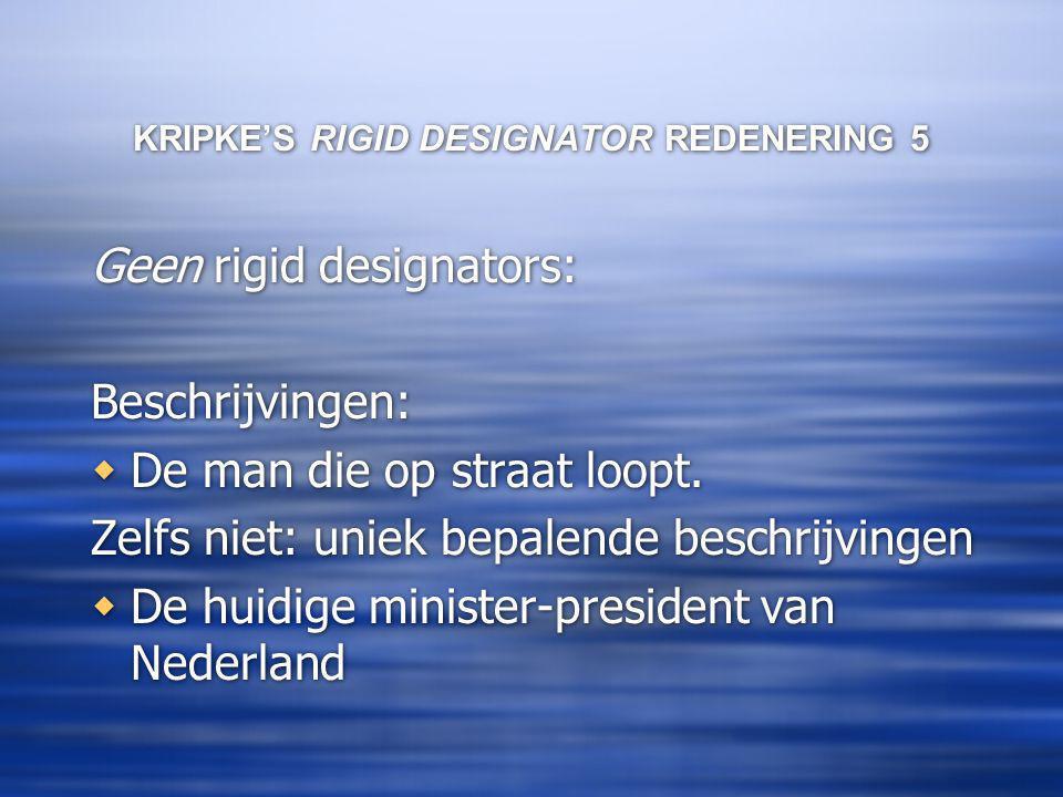 KRIPKE'S RIGID DESIGNATOR REDENERING 5