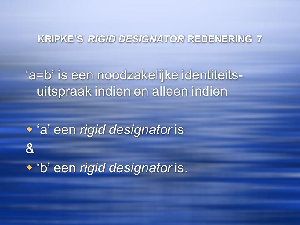 KRIPKE'S RIGID DESIGNATOR REDENERING 7