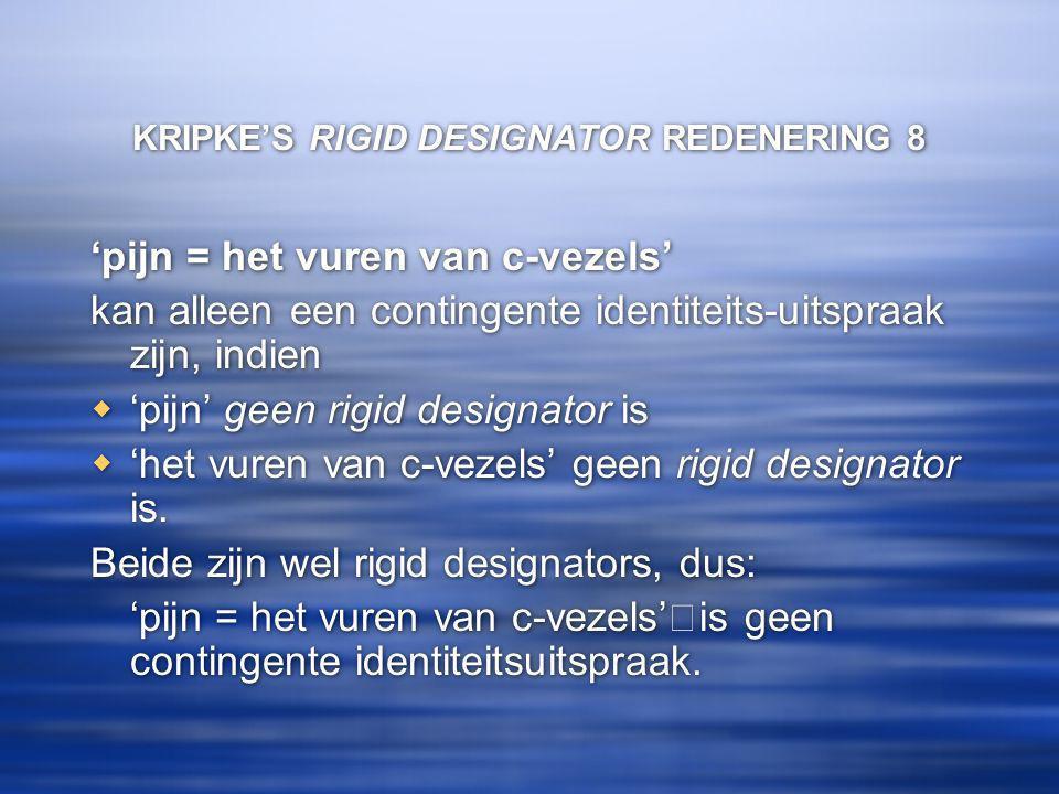 KRIPKE'S RIGID DESIGNATOR REDENERING 8