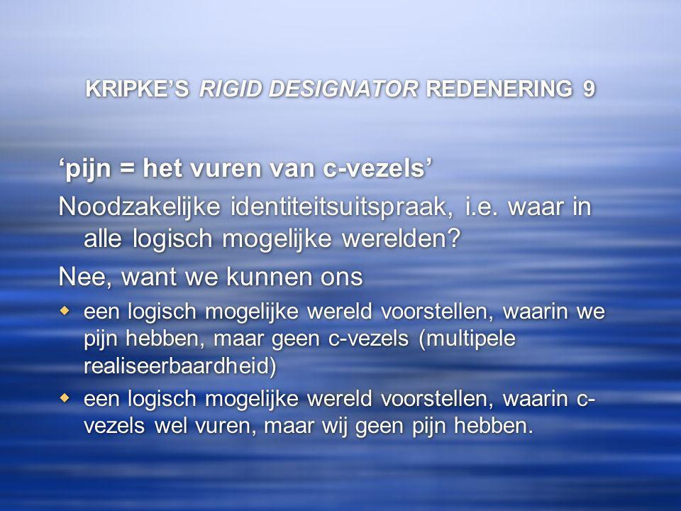 KRIPKE'S RIGID DESIGNATOR REDENERING 9
