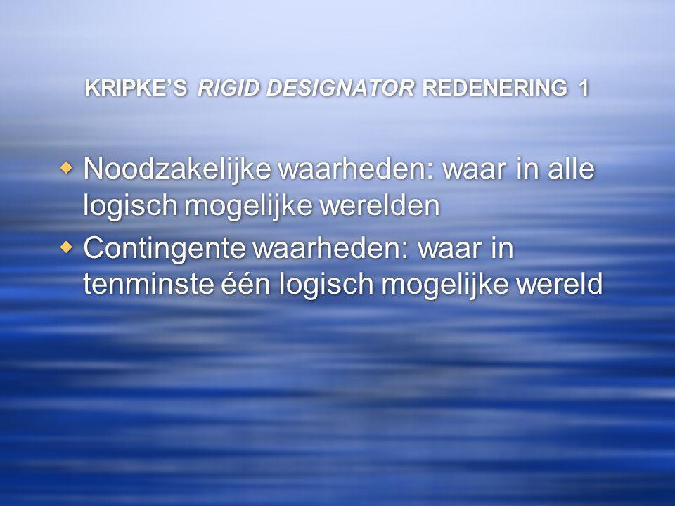 KRIPKE'S RIGID DESIGNATOR REDENERING 1