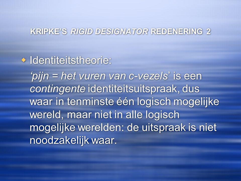 KRIPKE'S RIGID DESIGNATOR REDENERING 2