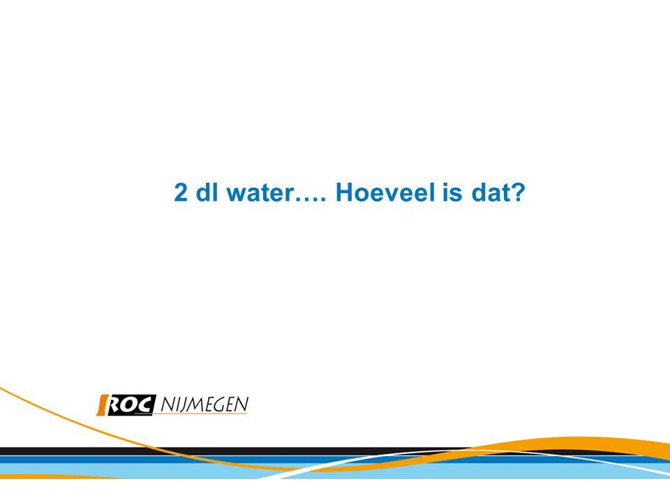 2 dl water…. Hoeveel is dat