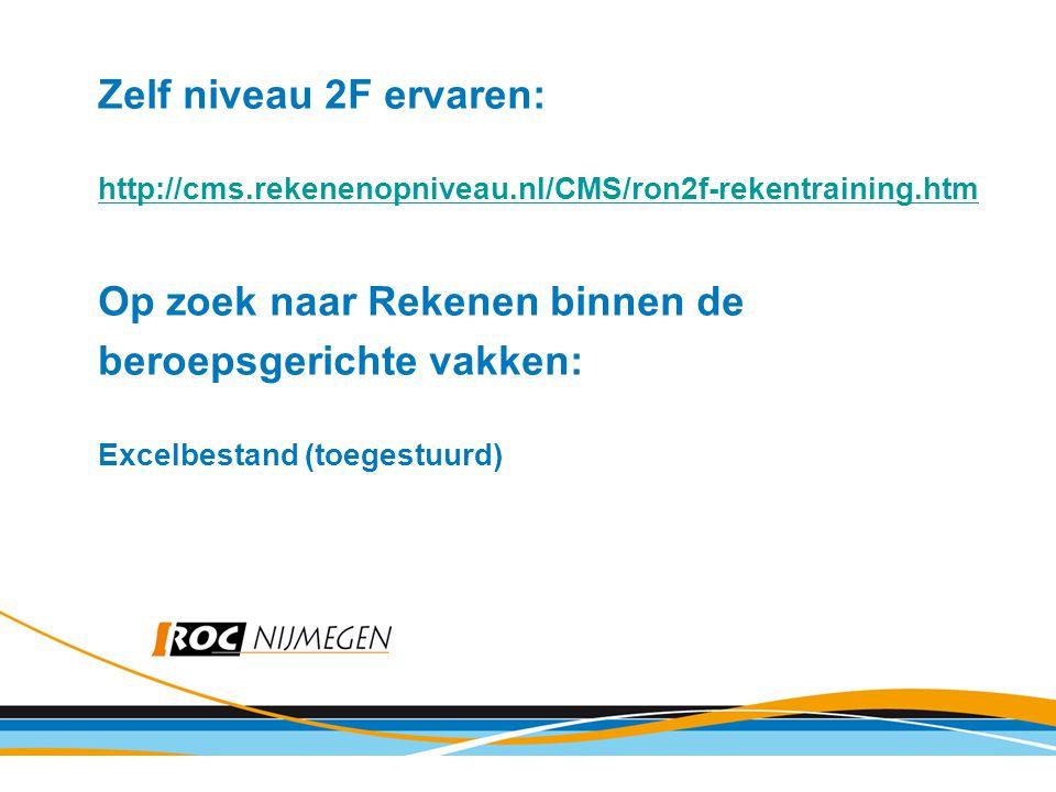Op zoek naar Rekenen binnen de beroepsgerichte vakken: