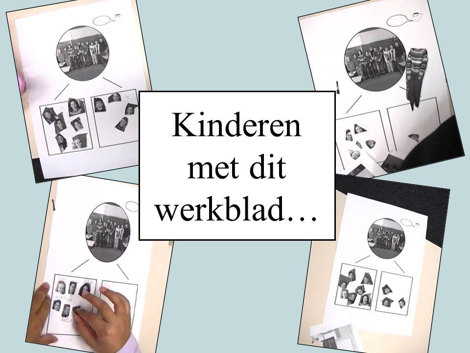 Kinderen met dit werkblad…