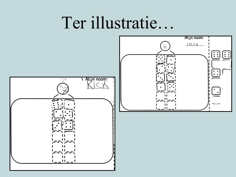 Ter illustratie…