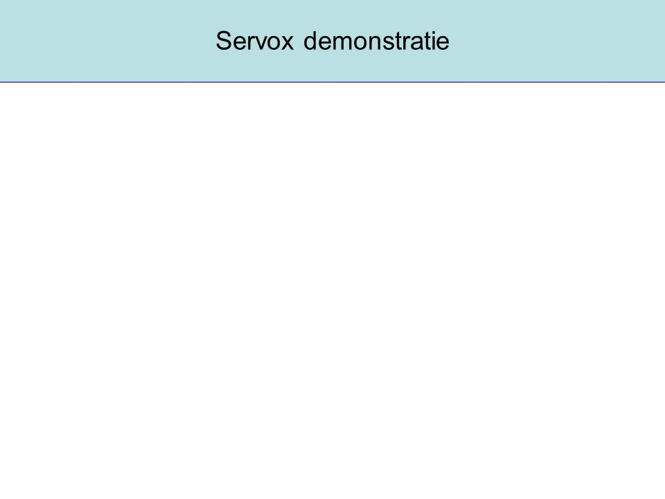 Servox demonstratie