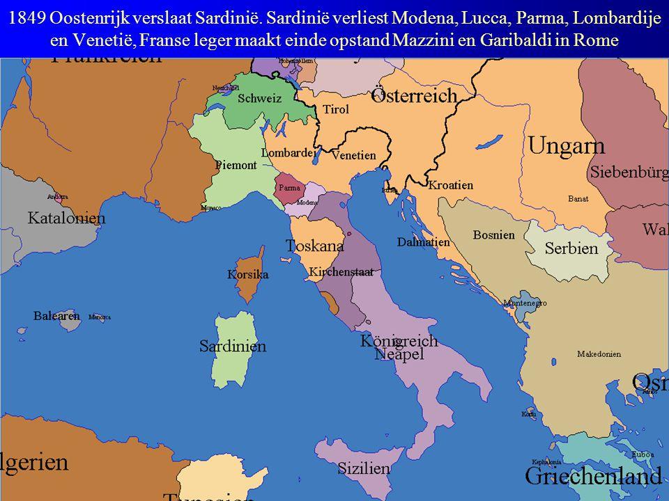 1849 Oostenrijk verslaat Sardinië
