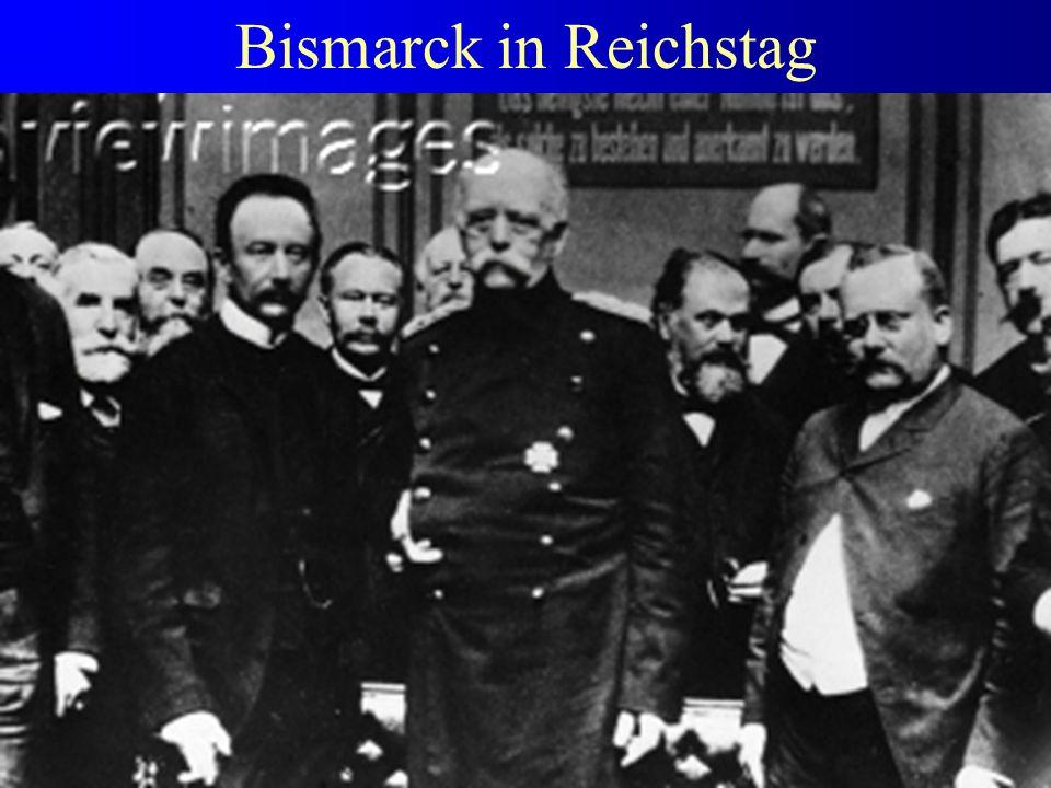 Bismarck in Reichstag