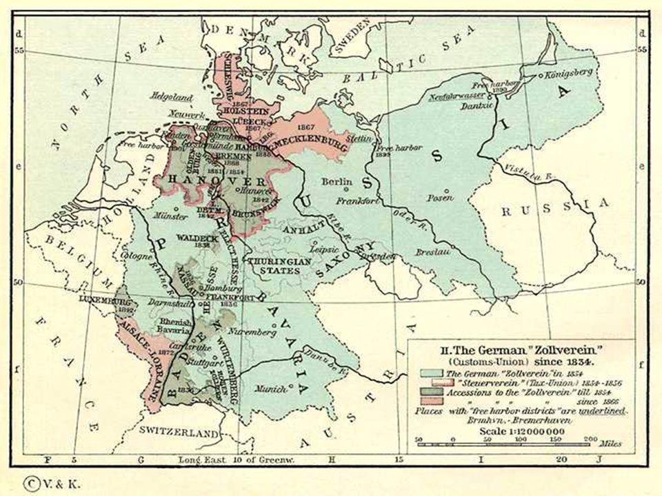 Von Treitscke, Omdat eenwording politiek niet kon moest het economisch gebeuren, dat klopt niet, want er was wel degelijk een oorlog voor nodig om de Duitse eenwording te bereiken.
