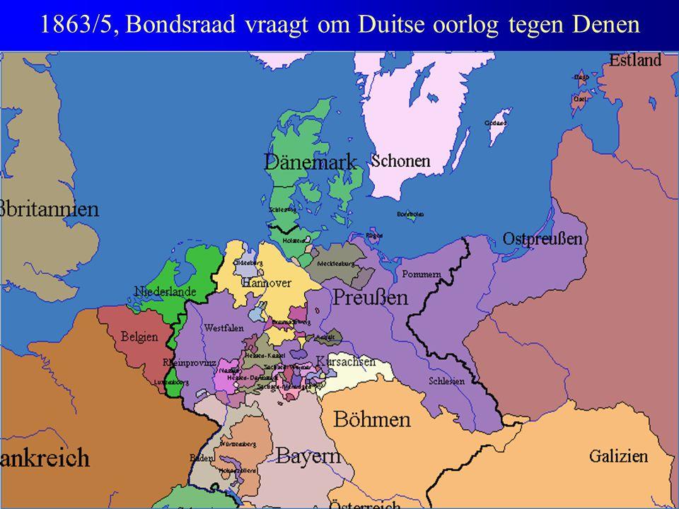 1863/5, Bondsraad vraagt om Duitse oorlog tegen Denen