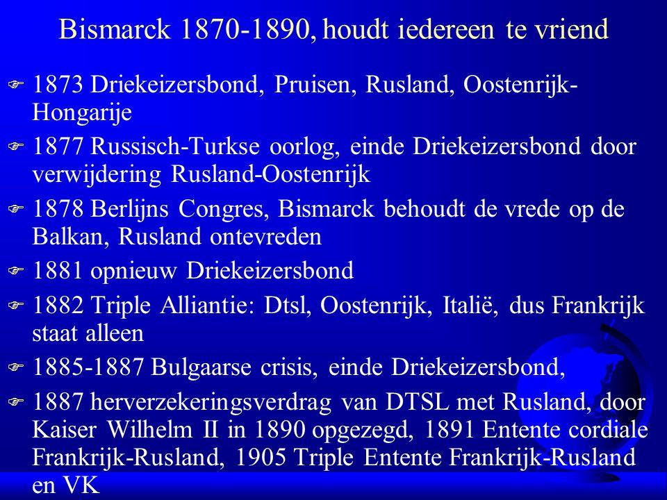 Bismarck 1870-1890, houdt iedereen te vriend