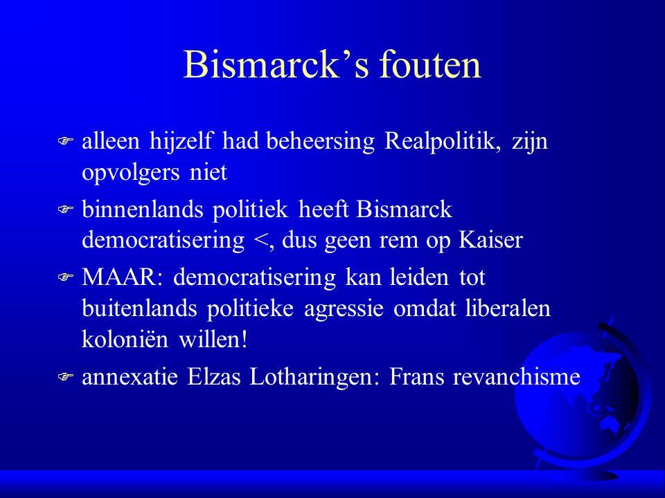 Bismarck's fouten alleen hijzelf had beheersing Realpolitik, zijn opvolgers niet.