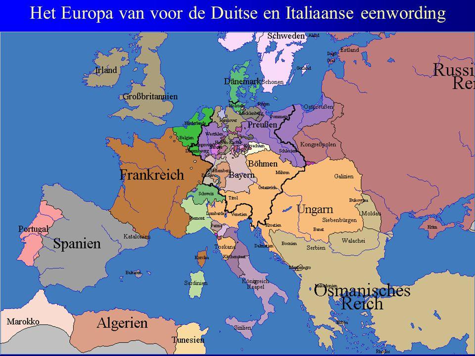 Het Europa van voor de Duitse en Italiaanse eenwording
