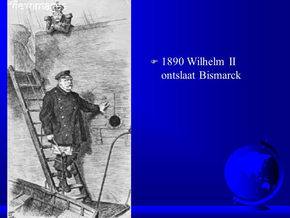 1890 Wilhelm II ontslaat Bismarck