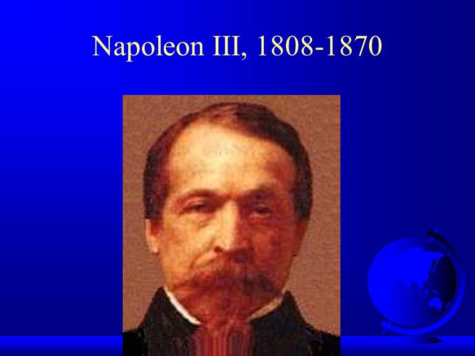 Napoleon III, 1808-1870 geboren in 1808, neef van Napoleon Bonaparte, zijn vader was Louis Napoleon Koning van Holland.