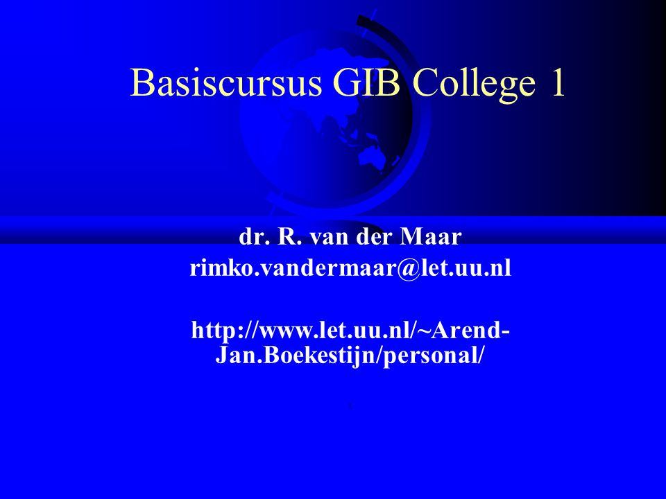 Basiscursus GIB College 1