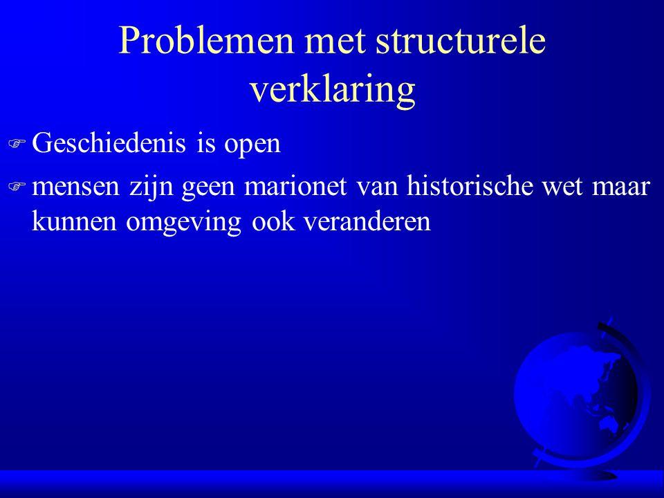 Problemen met structurele verklaring