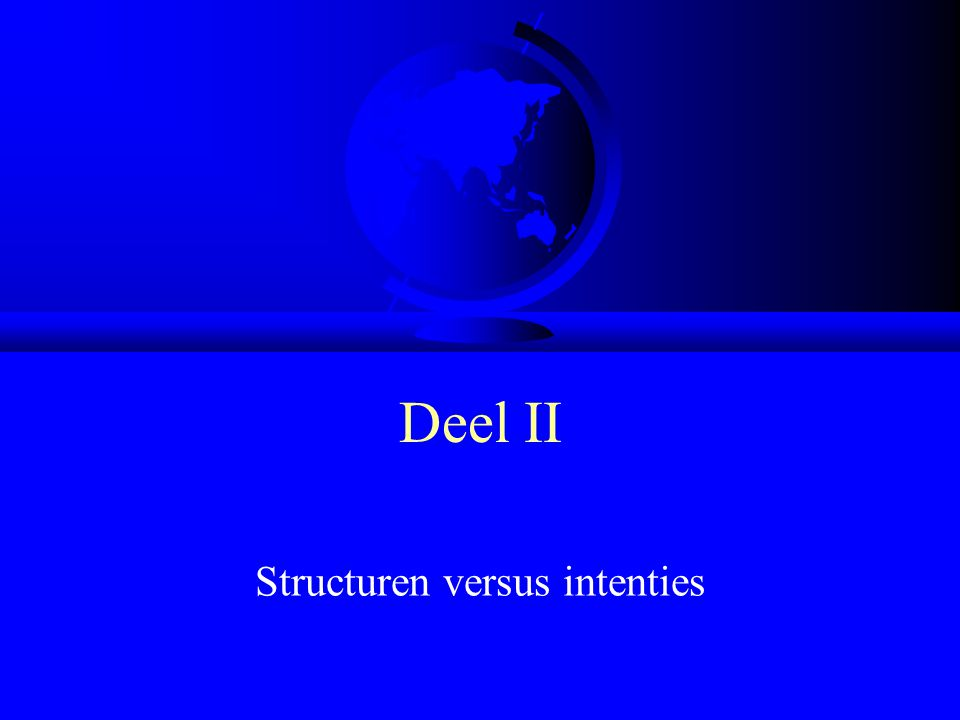 Structuren versus intenties