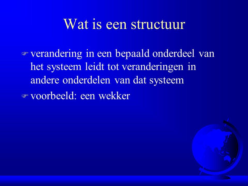 Wat is een structuur verandering in een bepaald onderdeel van het systeem leidt tot veranderingen in andere onderdelen van dat systeem.