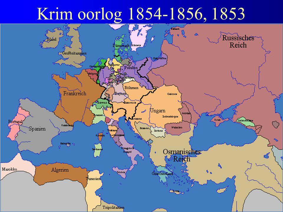Krim oorlog 1854-1856, 1853 Verloop Krimoorlog 1854-1856
