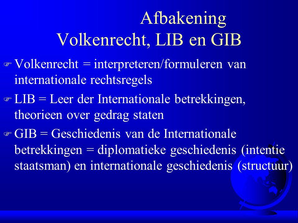 Afbakening Volkenrecht, LIB en GIB