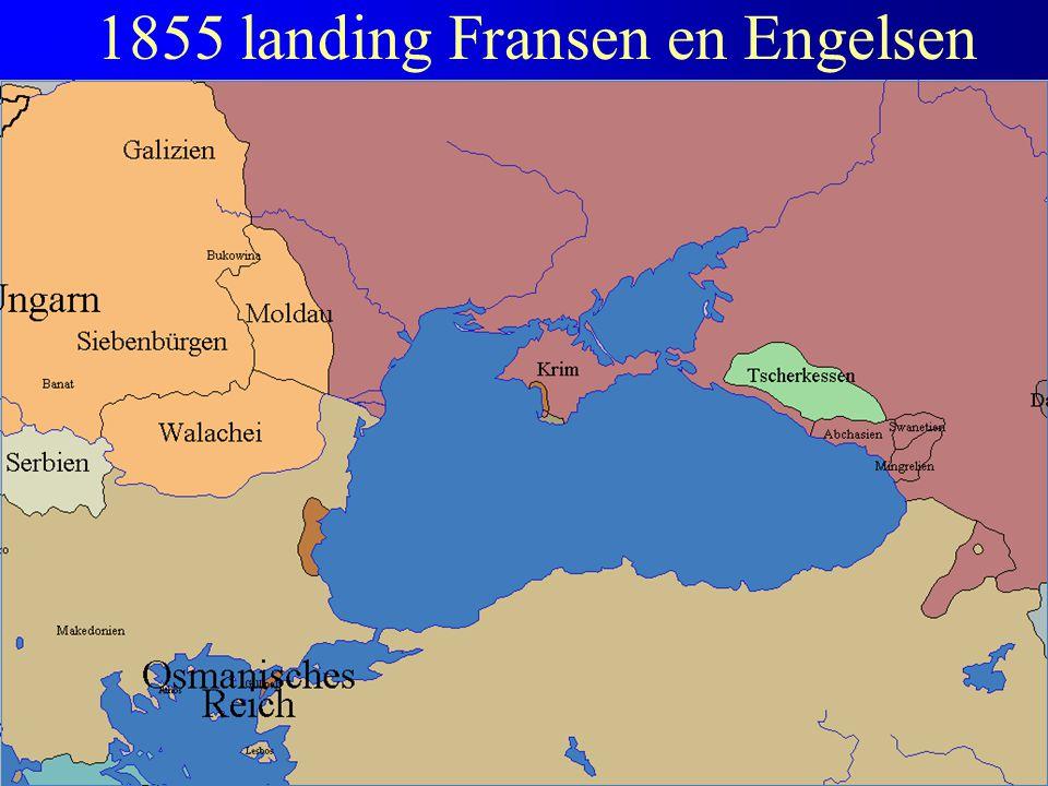 1855 landing Fransen en Engelsen