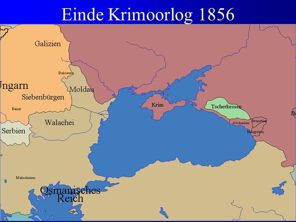 Einde Krimoorlog 1856 Cruciale fout: Oostenrijk kiest voor Frankrijk