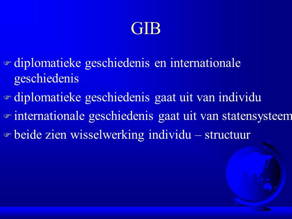GIB diplomatieke geschiedenis en internationale geschiedenis