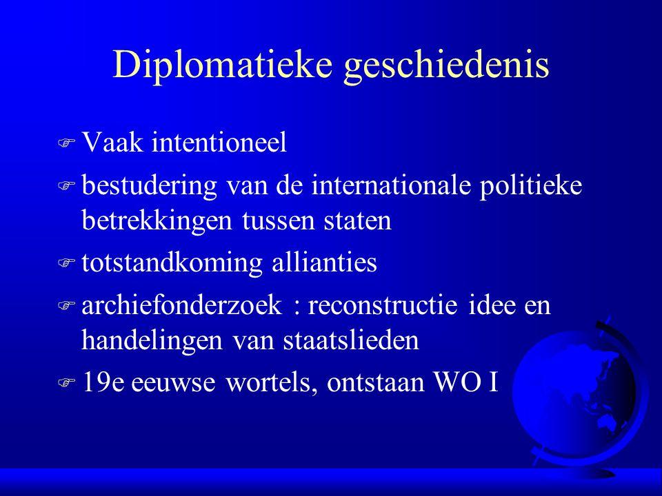 Diplomatieke geschiedenis