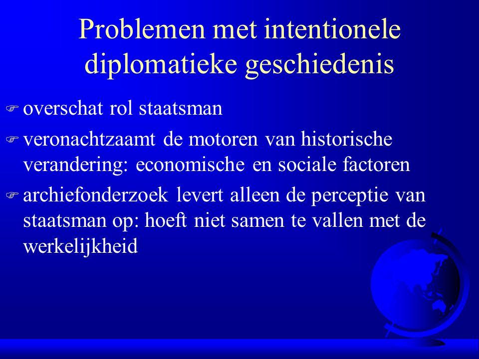 Problemen met intentionele diplomatieke geschiedenis