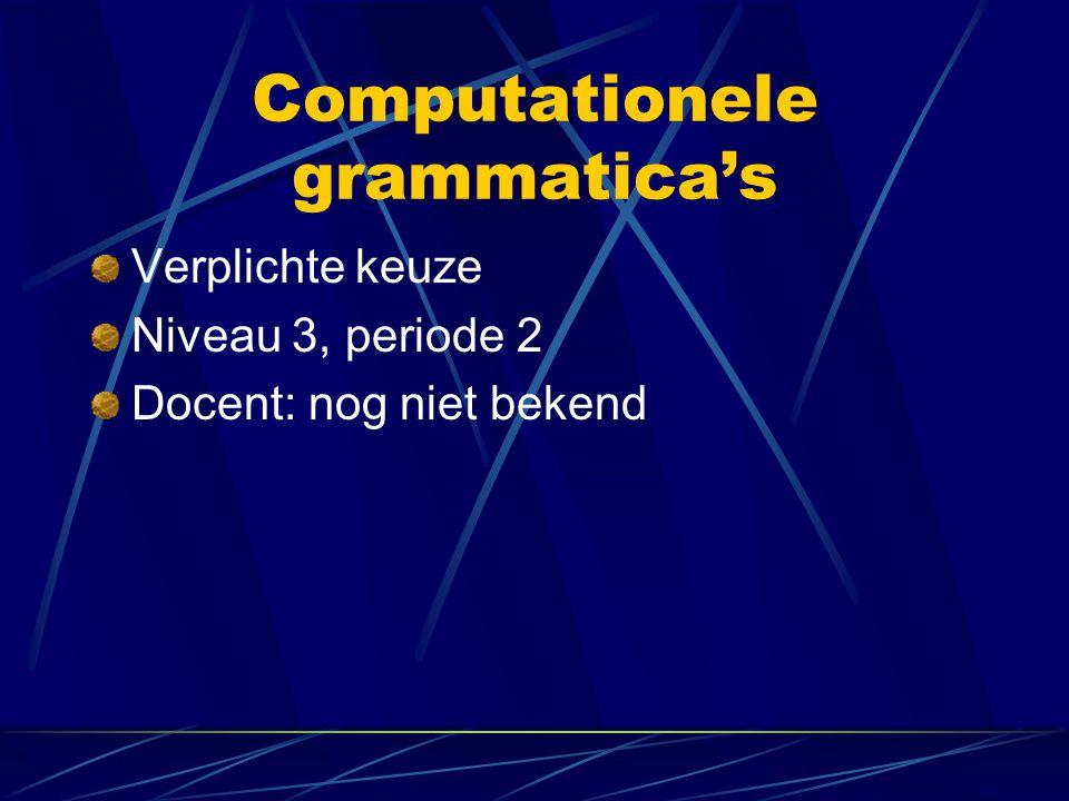 Computationele grammatica's