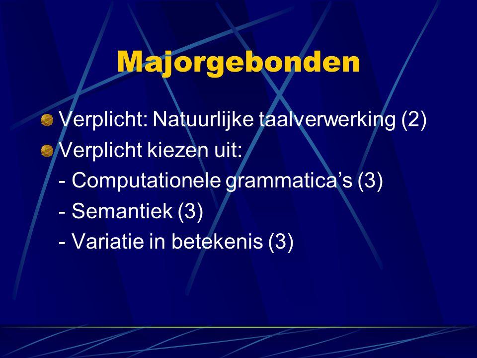 Majorgebonden Verplicht: Natuurlijke taalverwerking (2)