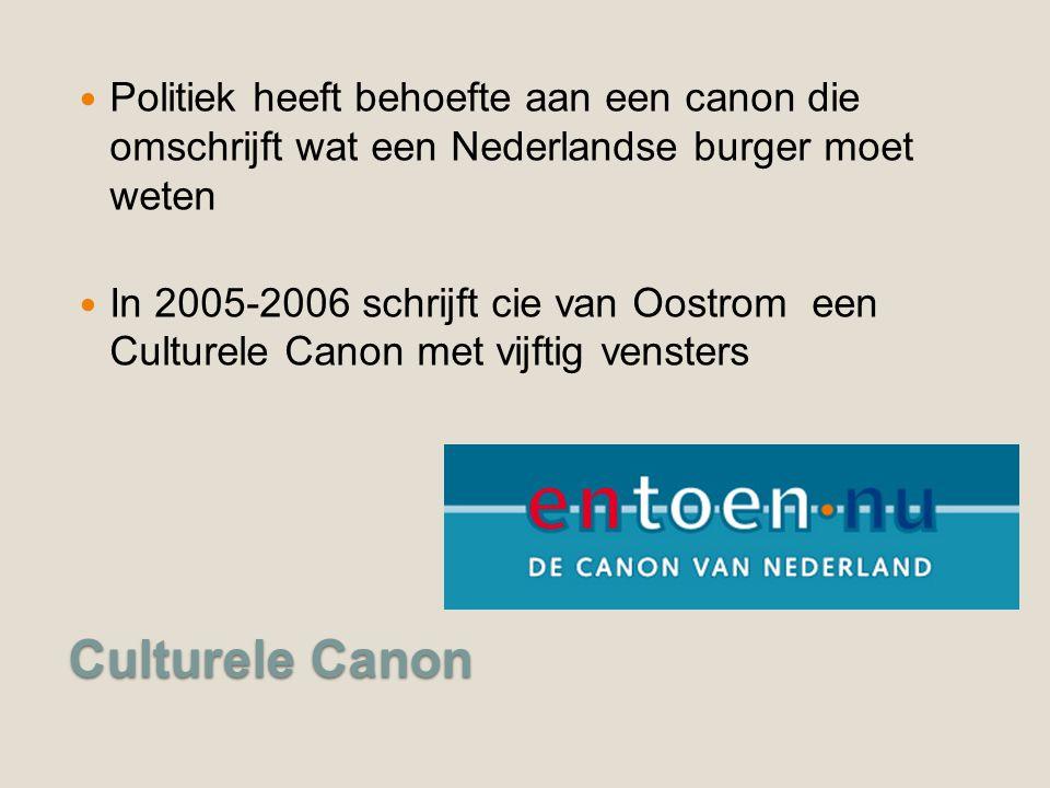 Politiek heeft behoefte aan een canon die omschrijft wat een Nederlandse burger moet weten