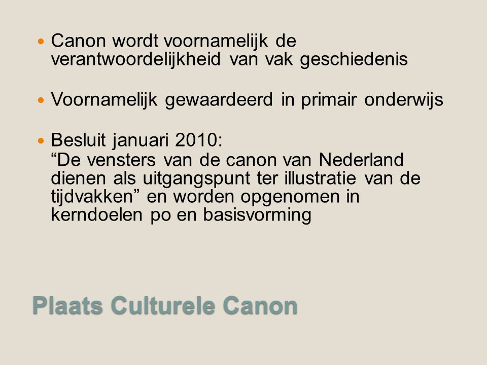 Plaats Culturele Canon