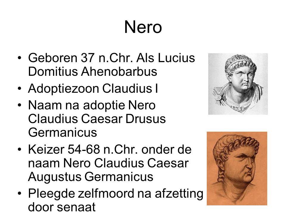 Nero Geboren 37 n.Chr. Als Lucius Domitius Ahenobarbus