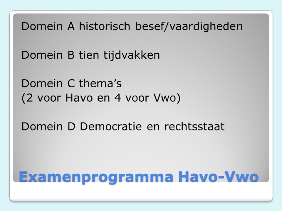 Examenprogramma Havo-Vwo