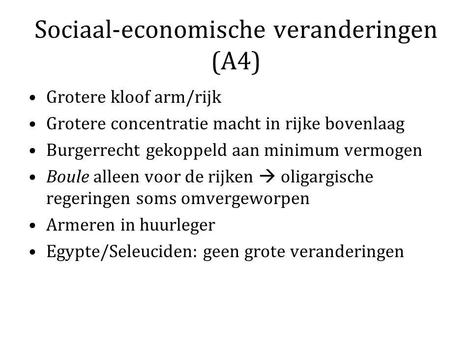 Sociaal-economische veranderingen (A4)
