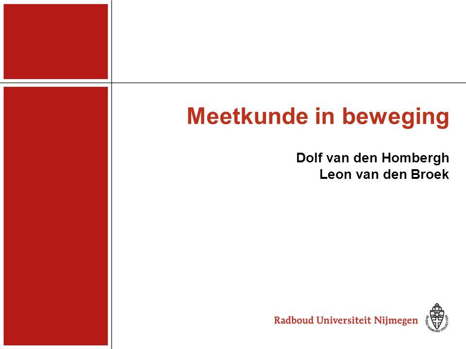 Meetkunde in beweging Dolf van den Hombergh Leon van den Broek
